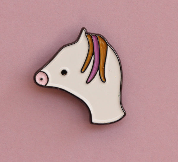 Pony Enamel Pin | The Misfortunes by Noa Goffer