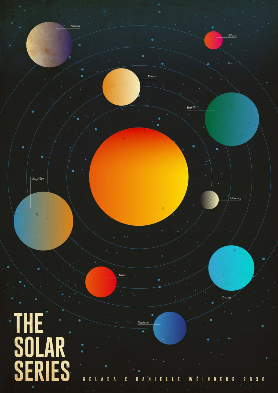 The Solar Series || A3 Original Illustration Poster, Digital Print