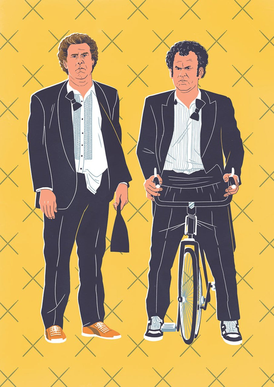 Step Brothers, The Bromance Series || A3 Original Illustration Poster, Digital Print