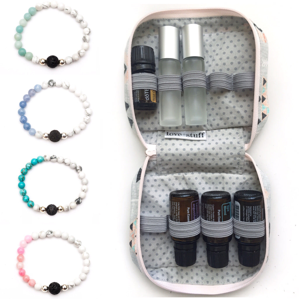 On the Go Essential Oils Case with Diffuser Jewellery