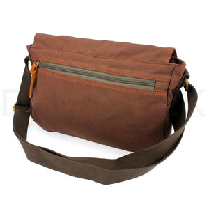 "Military Canvas 14"" Laptop Shoulder Messenger Bag"