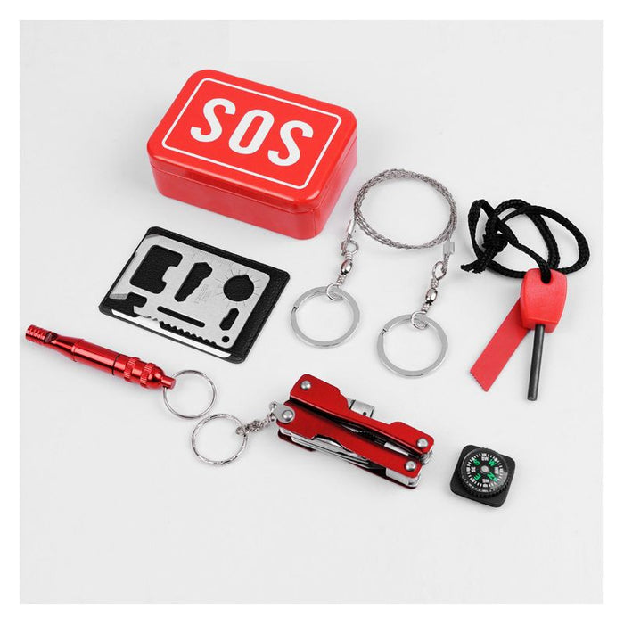 Multifunction SOS Emergency Survival Kit Box