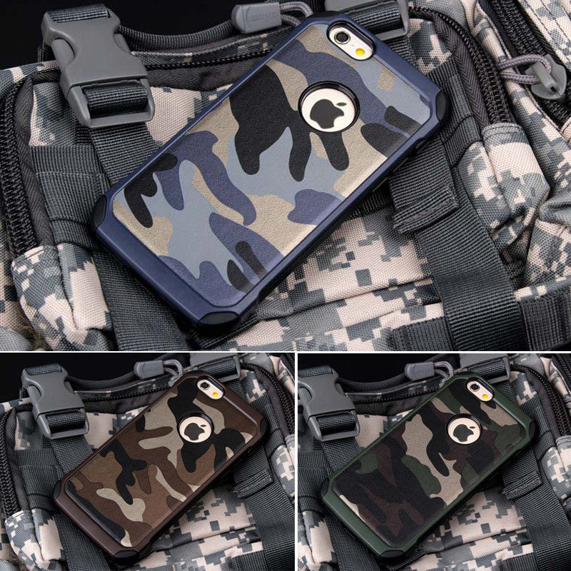 Army Camouflage TPU Armor Protective Phone Cases For iPhone & Samsung