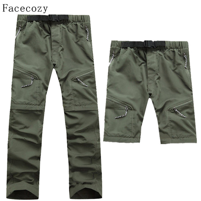 Facecozy Men Summer Outdoor Fast Drying Pants