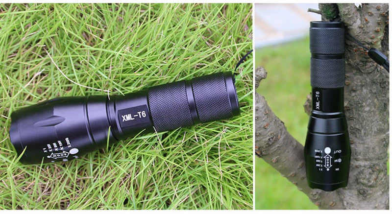Ultra Bright 5 Mode CREE XML T6 3800LM Zoomable Led Flashlight