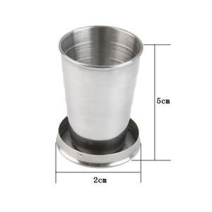 High Quality Stainless Steel Portable Outdoor Travel Camping Folding Cup