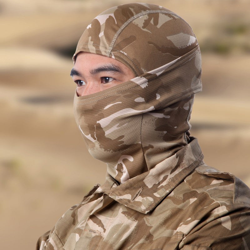 Tight Multicam Camo Balaclava Protection Full Face Mask
