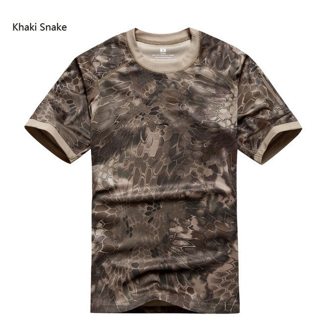 Summer Coolmax Tactical Camouflage T Shirt