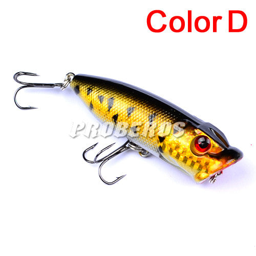 5pc Fishing Lures 5 colors Popper
