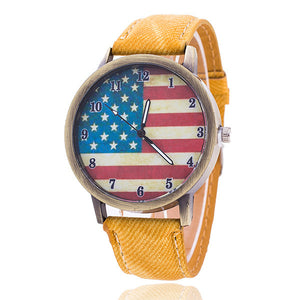 Jeans USA Flag Quartz Watches