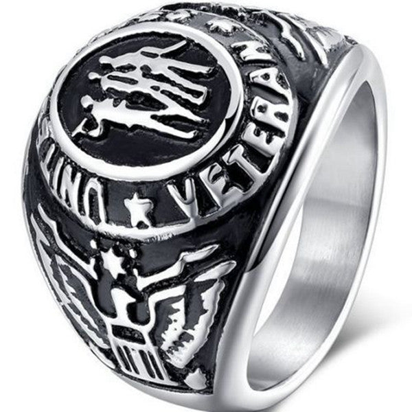 United States Army Navy Airforce Marines Veteran Military Ring