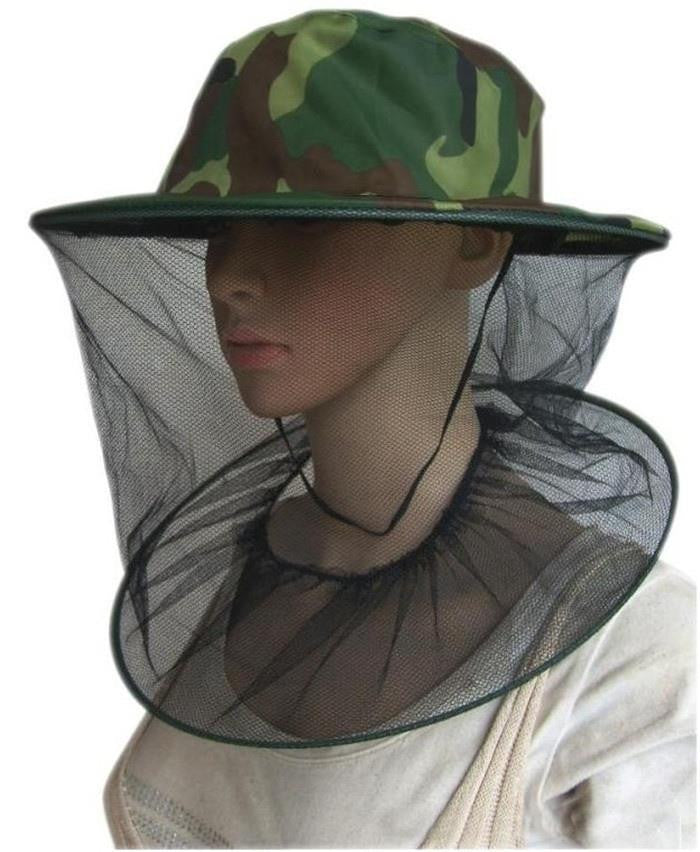 Insect Mosquito Net Mesh Face Protector Cap