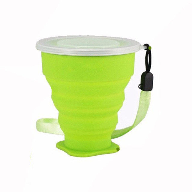 200mL Vogue Outdoor Travel Silicone Retractable Folding tumblerful