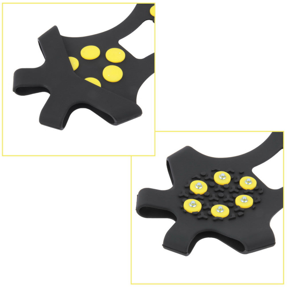 Professional 10 Studs Anti-Skid Snow Ice Thermoplastic Spikes Grips