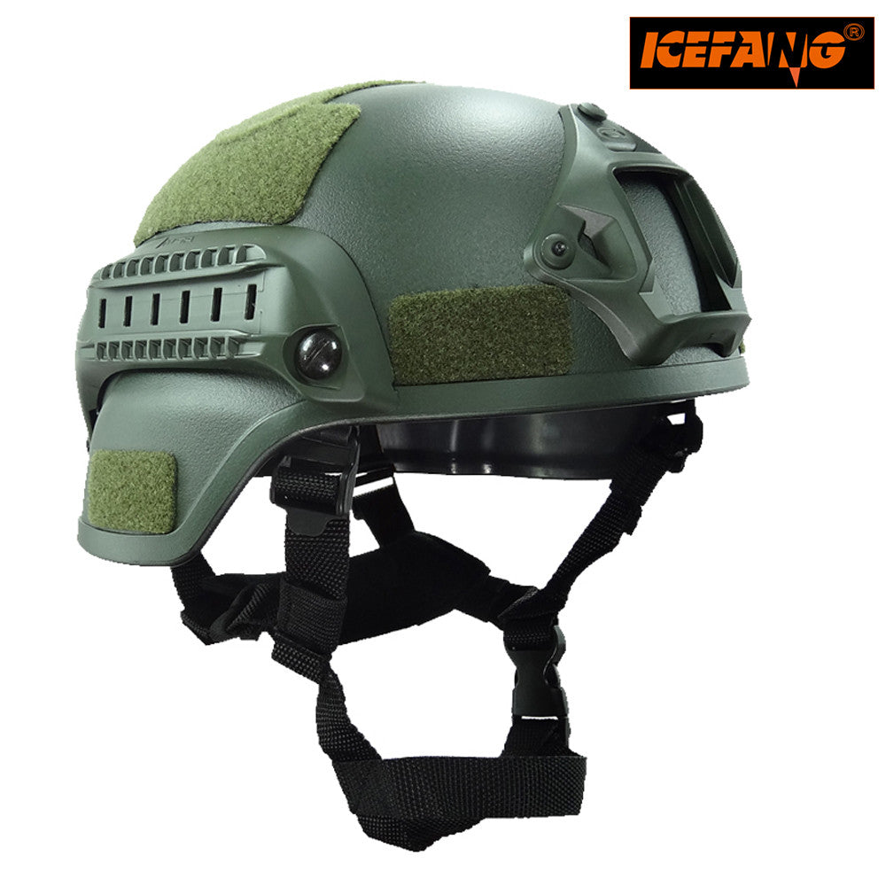 Military Mich 2000 Tactical Helmet Airsoft Gear Paintball Head Protector with Night Vision Sport Camera Mount
