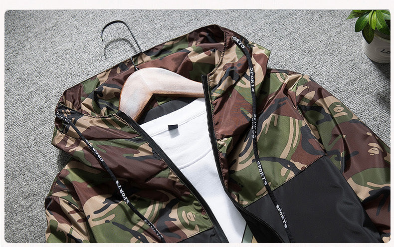 CAMO TACTICAL WINDBREAKER