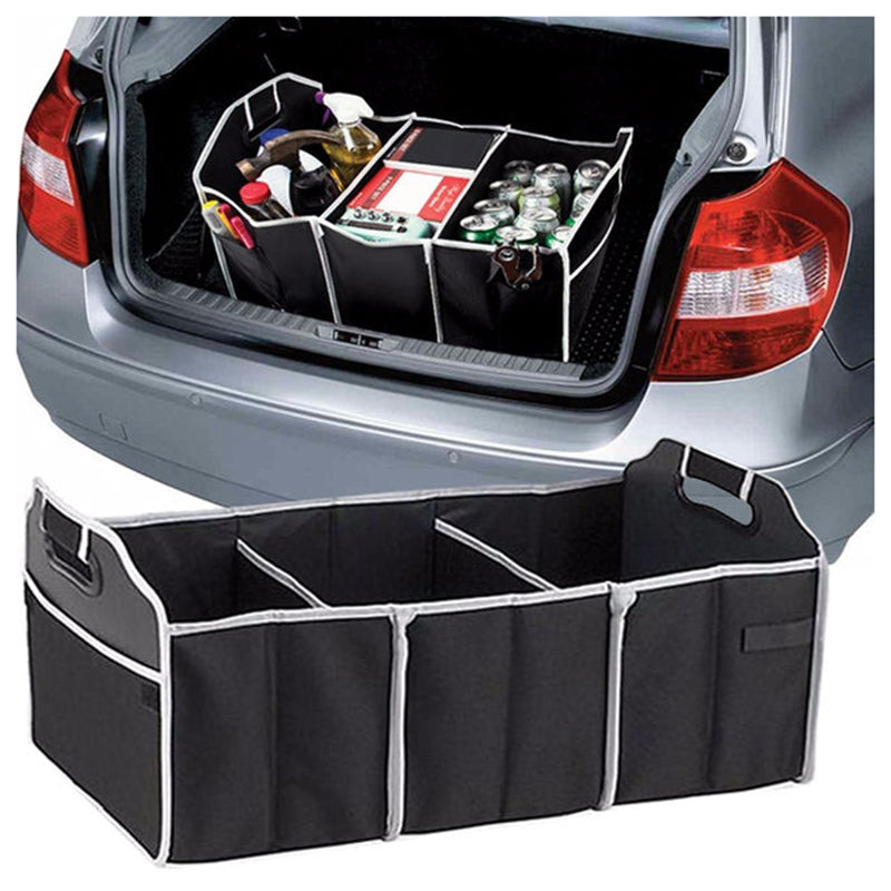 Large Car Auto Trunk Organizer with 3 Compartments