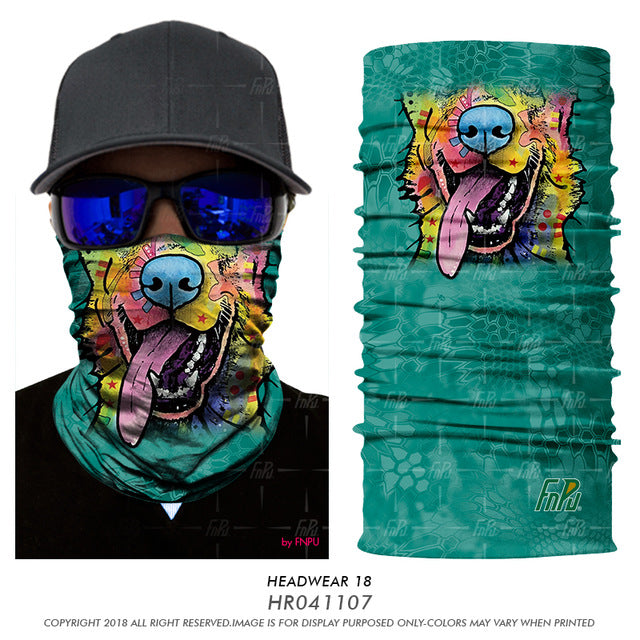 3D Seamless Scarf & Face Mask