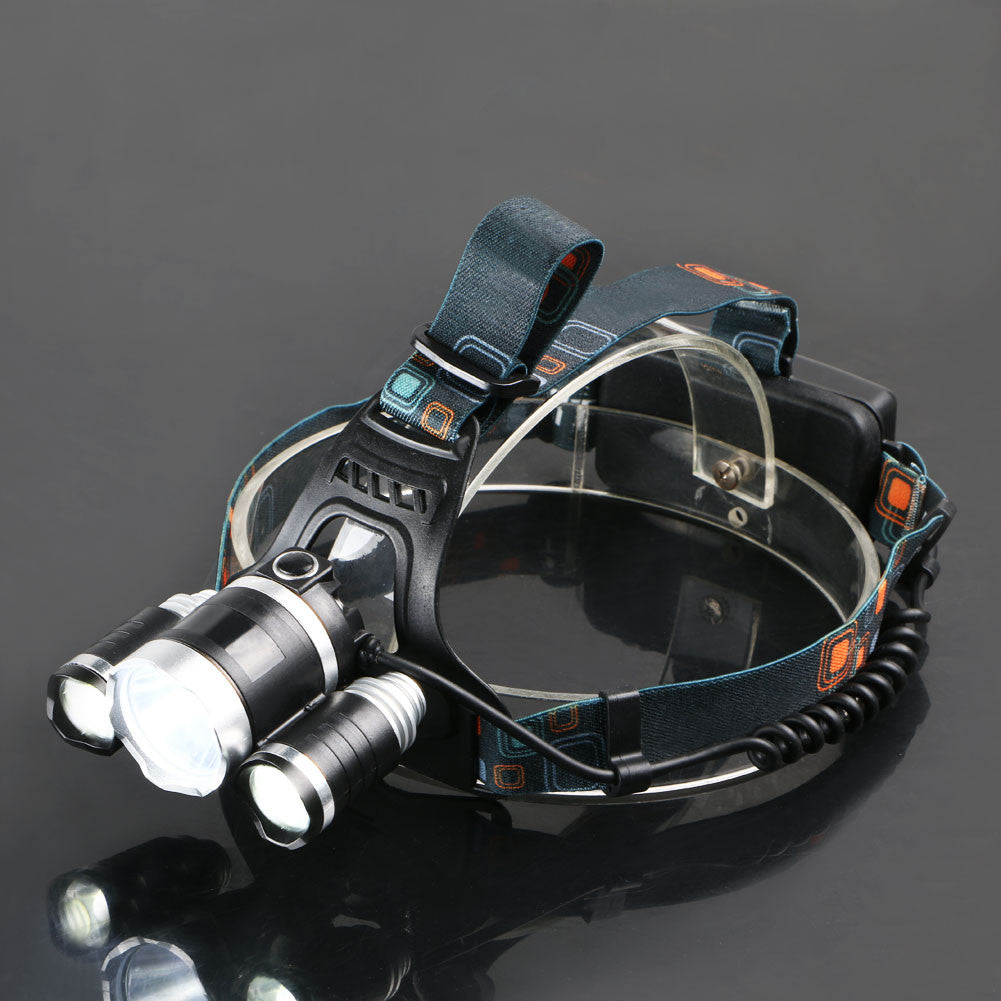6000 Lumens LED Headlamp CREE XML T6 2R5 LED 4 Modes Rechargeable