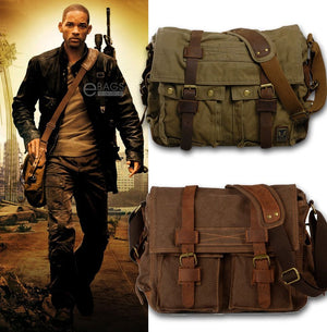 I AM LEGEND Will Smith Vintage Canvas Crossbody Bags