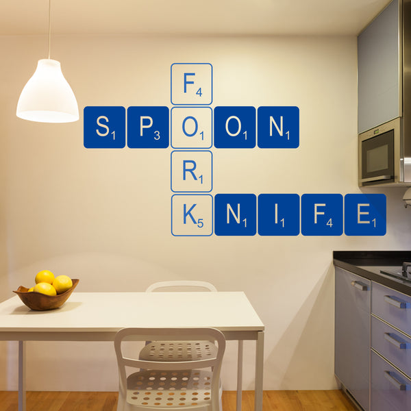 Large Personalised Letter Tile Wall Sticker The Bright