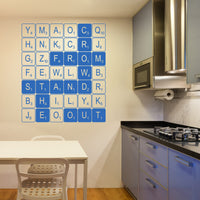 Medium Personalised Letter Tile Wall Sticker