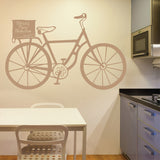 Personalised Cartoonesque Bike Wall Stickers