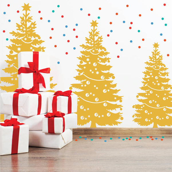 Decorated Christmas Tree Wall Sticker