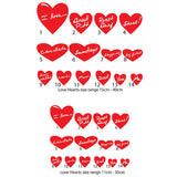 Personalised Love Heart Wall Stickers