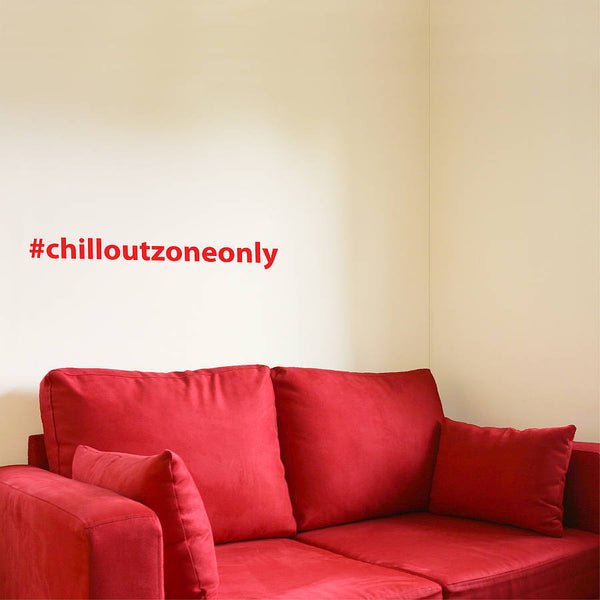 Personalised Hashtag Wall Sticker