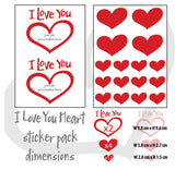 Personalised I Love you heart wall sticker