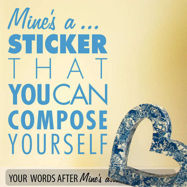 Personalised Mines A… Wall Sticker