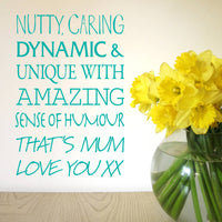 Personalised My Mum Is… Wall Sticker