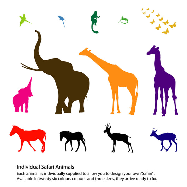 Individual Safari Animal Wall Stickers