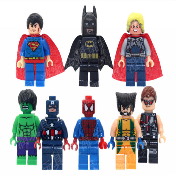 Marvel Super Hero Lego Avengers Buy Super-man Thor Captain America Hawkeye  Wolverine Hulk Lego Toy Brick Model Toys For Children Puzzle Fun Gift