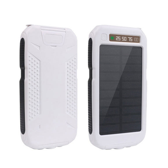 Solar Power Bank With Dual USB Ports and a Flashlight - shopalino