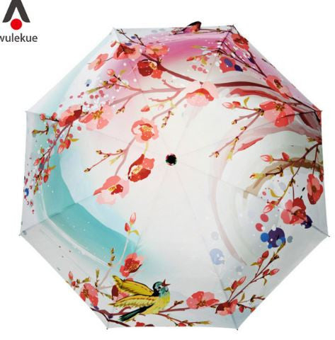 Spring Peach Blossom Umbrella