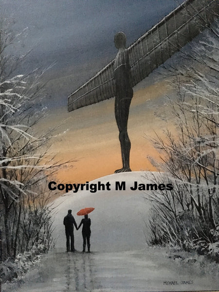 Angel of the North, print, prints, original art, for sale, north east, Michael James,