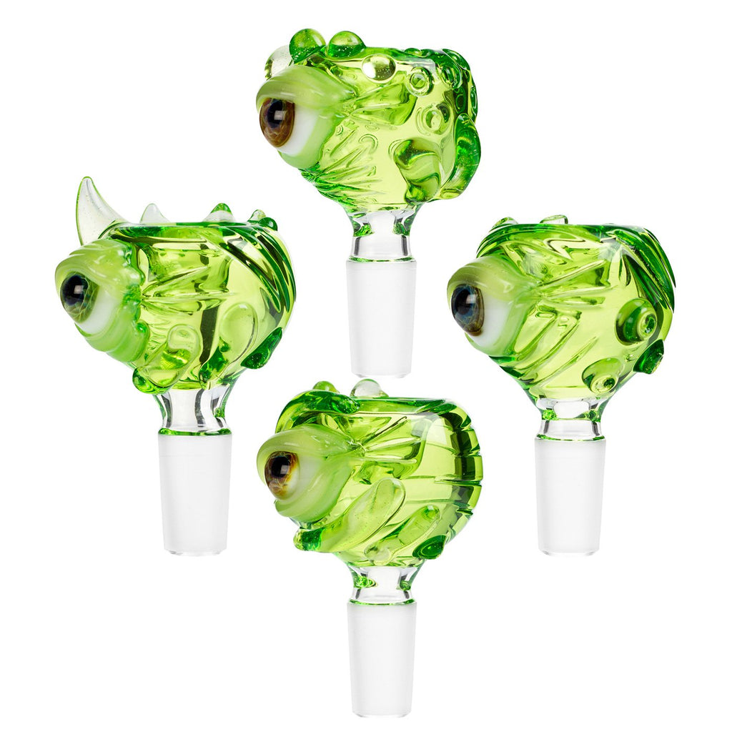 Bong Parts Frank Loves Glass Green Eyeball Cone Piece 14mm - Assorted Colours