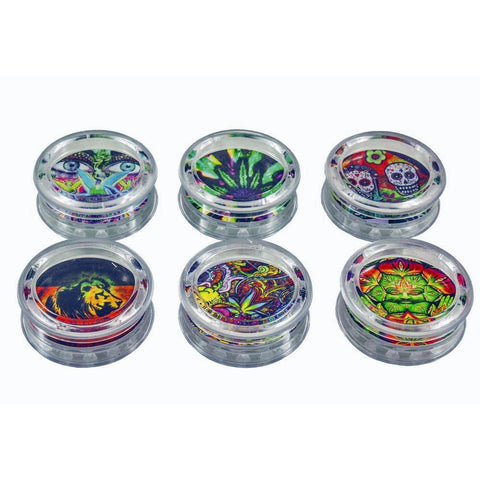 Grinder 3 Part Acrylic Magnetic Pocket Grinder 53mm