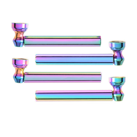 Pipe Atomic Mini Rainbow Glass Pipe - Assorted Designs