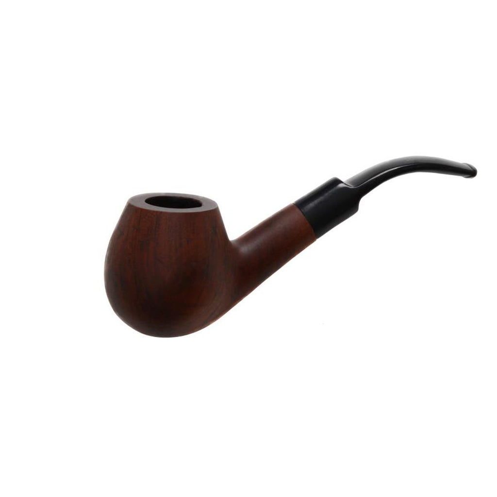 Pipe Matt - Bent Mouth Piece Sherlock Polished or Matt Finished Wooden Walnut Pipes