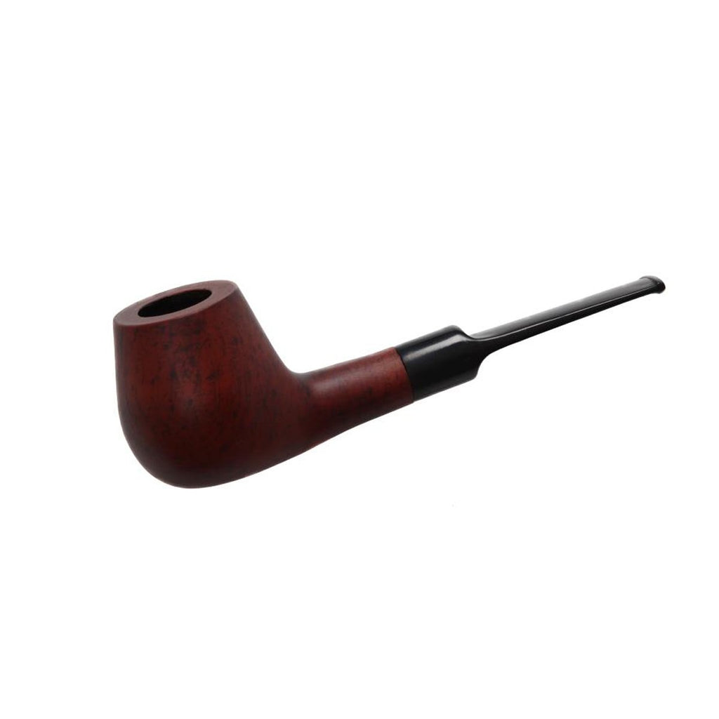 Pipe Matt - Flat Mouth Piece Sherlock Polished or Matt Finished Wooden Walnut Pipes