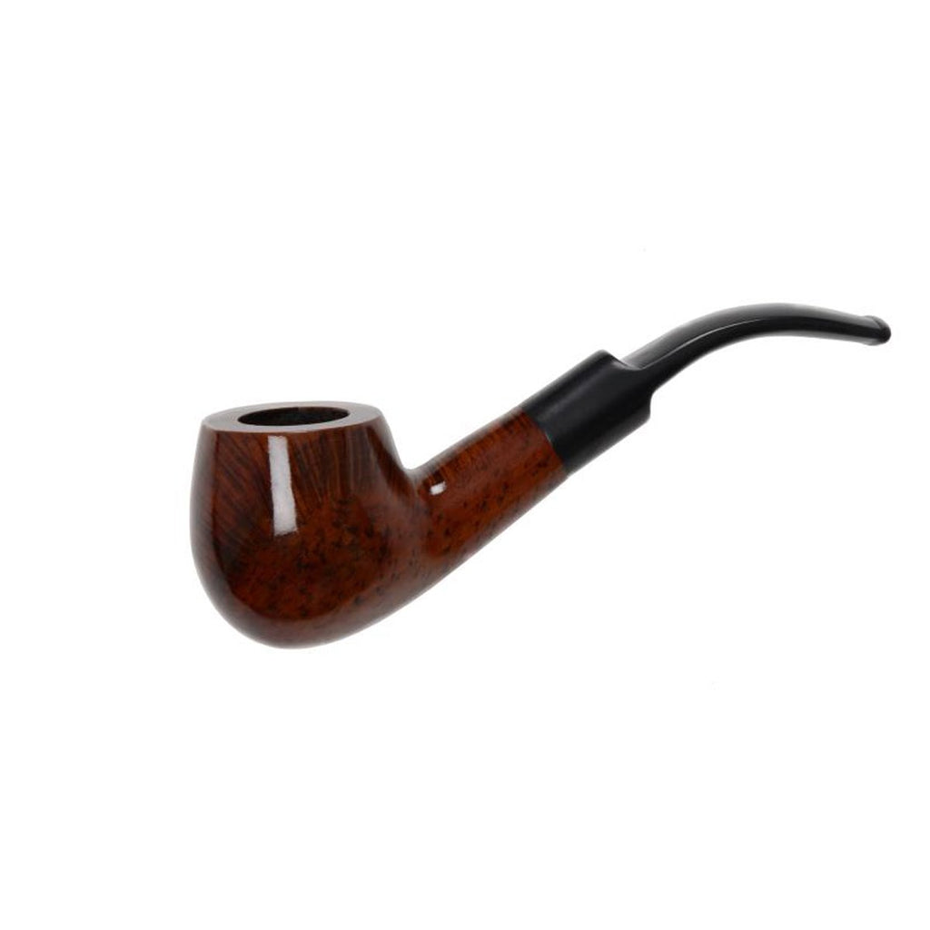 Pipe Polished - Bent Mouth Piece Sherlock Polished or Matt Finished Wooden Walnut Pipes