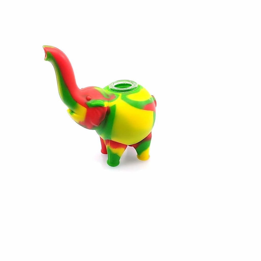 Pipe Red/Yellow/Green Elephant Silicone Pipe 11cm - Assorted Colours