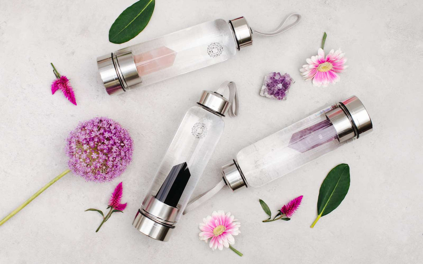 Crystal-Infusion Water Bottles