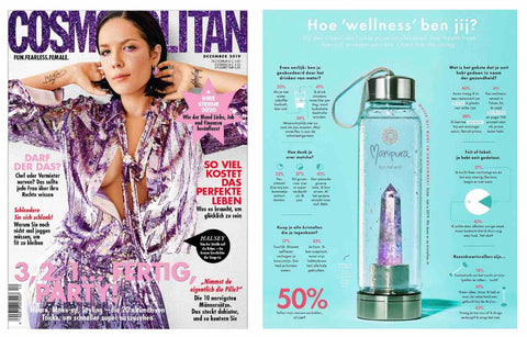 Manipura Rock Your Water Bottle in Cosmopolitan Magazine