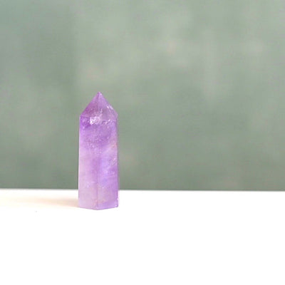 Natural Amethyst Crystal Wand (Small) by Manipura Malas at