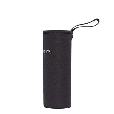 Original Black protective sleeve for Crystal Water Bottle by Manipura