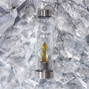 Citrine Crystal water bottle on ice Manipura Rock Your Water